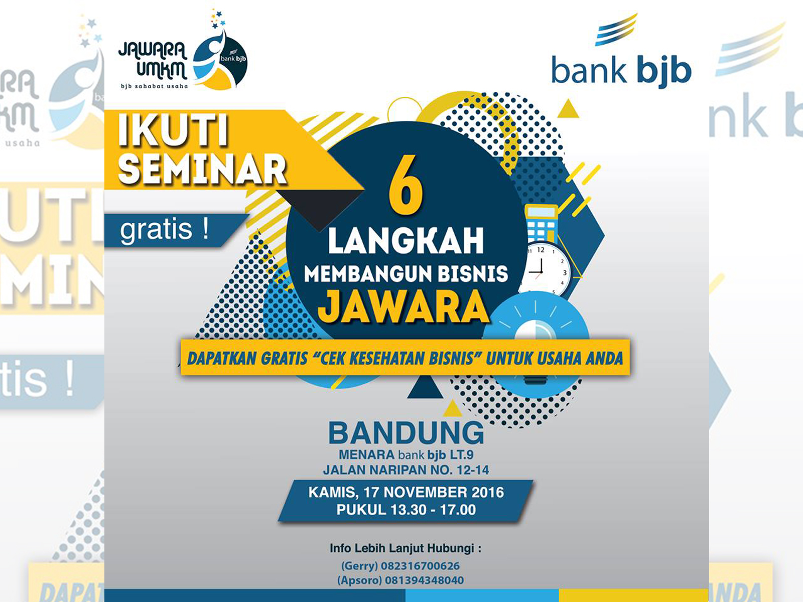 Kompetisi Jawara UMKM dan Seminar Bisnis Bank BJB