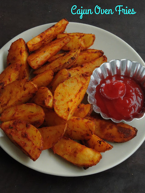 Vegan Cajun Oven Fries
