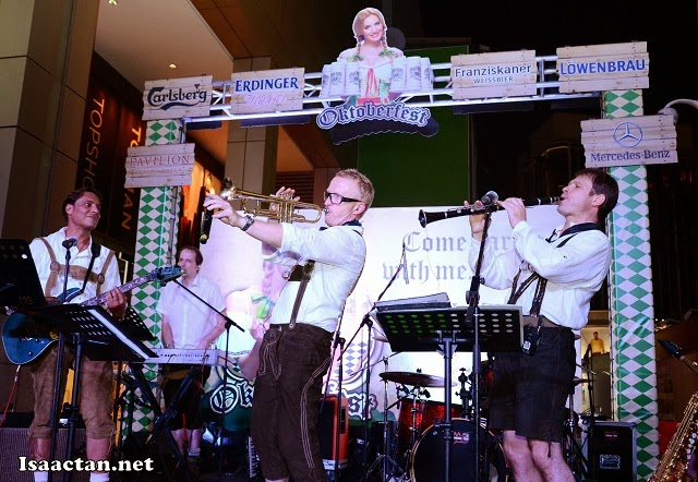Flown in from Germany, a six person Oktoberfest Oom-Pa-Pah band