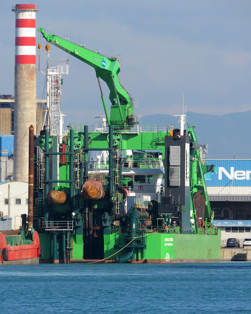 Cutter suction dredger Amazone, IMO 9546617, port of Livorno