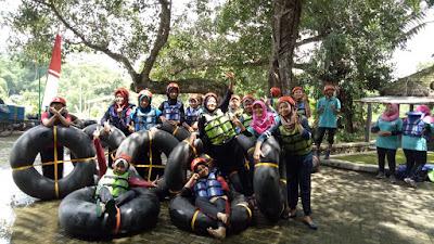 PIK Remaja Puskesmas Moyudan Jajal Tubing di Jonggrangan Minggir