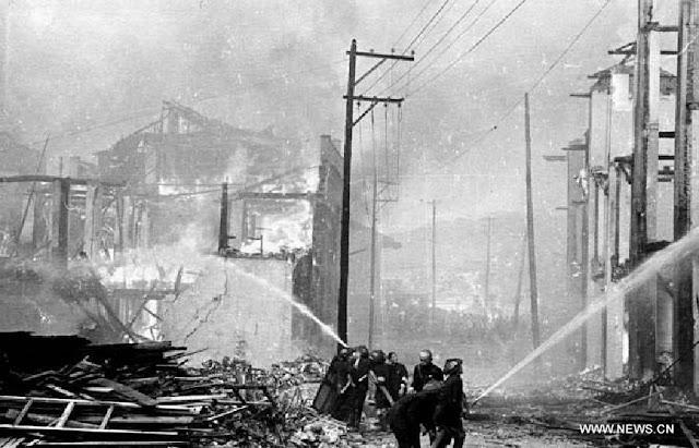 Chungking Chongqing China fire from Japanese air raid 7 June 1941 worldwartwo.filminspector.com