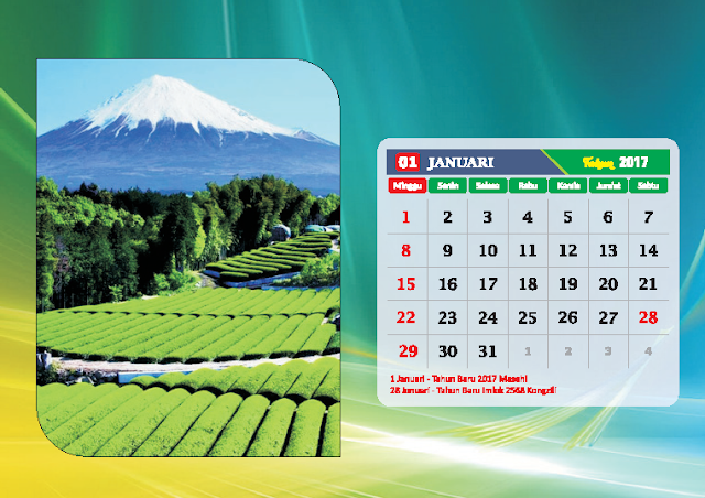 Kalender Bulan Januari 2017