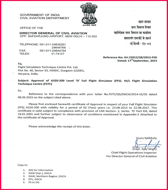DGCA Approval And Consultation Amit Ghosh