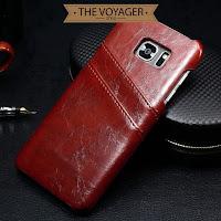 casing kulit leather case back cover with card slot Samsung Galaxy S7 edge sapi asli vintage original premium unik keren