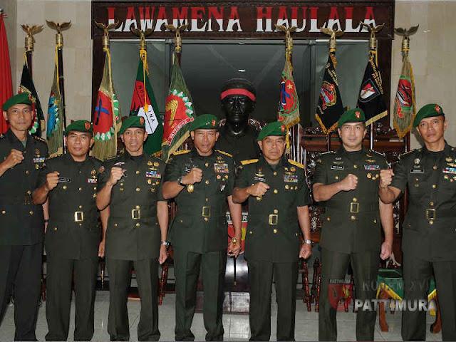Suko Pranoto Pimpin  Sertijab Sejumlah Pejabat Teras Kodam Pattimura
