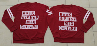 Jual Online Sweater Rock Hip Hop Maroon Couple Murah di Bandung Bahan Babytery Terbaru