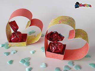 cuore porta cioccolatini 3d fai da te