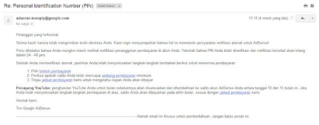 Cara Verifikasi Akun Google Adsense Menggunakan KTP dan Buku Rekening Bank