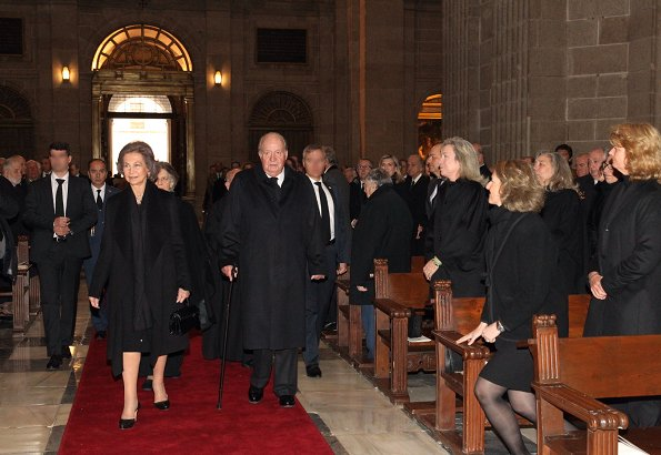King Felipe, Queen Letizia, King Juan Carlos, Queen Sofia, Infanta Elena and Infanta Cristina attended memorial event at El Escorial Monastery