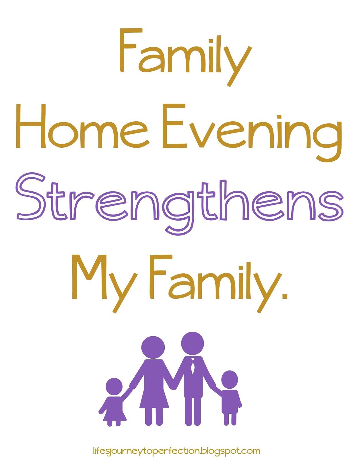 Ideas Family Home Evening Lds