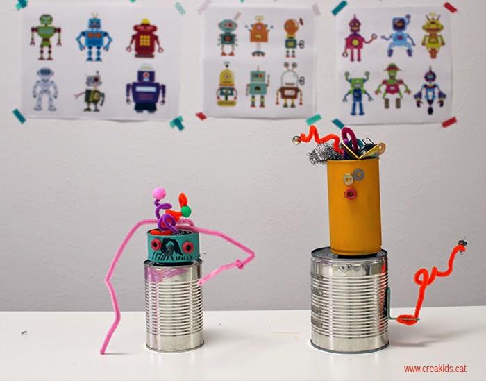 Juguetes Handmade: Robots upcycling