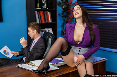 Brazzers - Angela White - Big Tits at Work | PornBet