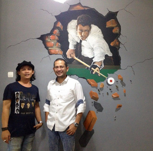 Mural tiga dimensi 3d cocok untuk lukis dinding cafe tema for Mural untuk cafe