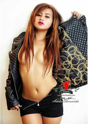 Gaya Hot Bugil Model Adelia Sheronicha 21+ - Model Majalah Pria Dewasa