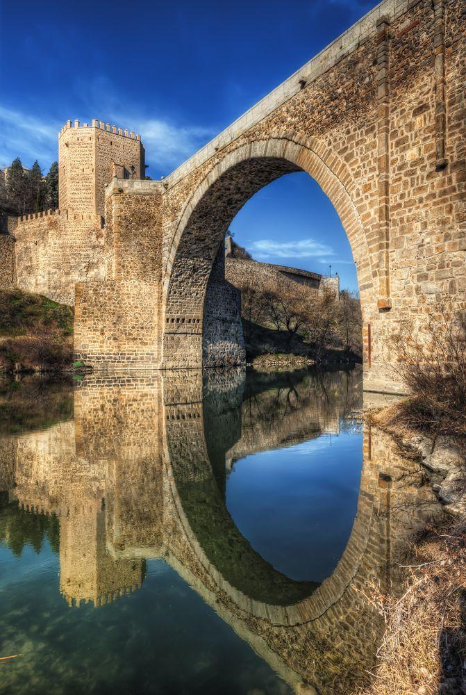 Pipeline - old bridges in Toledo, Spain