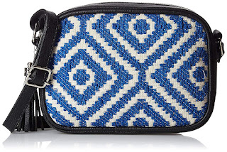 Shopping, Style and Us: India's Best Shopping and Self-Help Blog - BUY KANVAS KATHA WOVEN PRINT BAG IN BLUE