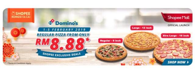 Domino pizza , tawaran domino pizza , kolaborasi domino pizza bersama shopee,