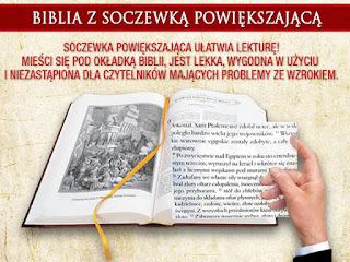 Biblia - PISMO ŚWIĘTE STAREGO I NOWEGO TESTAMENTU z soczewką