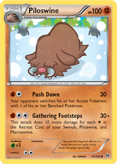 Piloswine BREAKthrough Pokemon Card