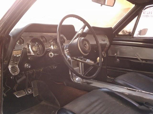 67 mustang deluxe interior brushed aluminium