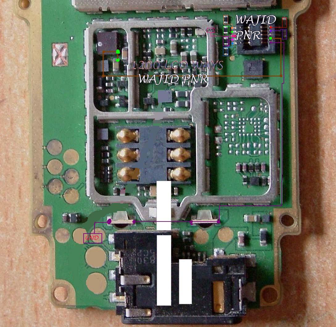 Nokia 1208 light problem solution.Display ways track