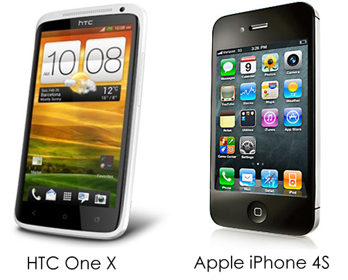 htc one x vs iphone 4s