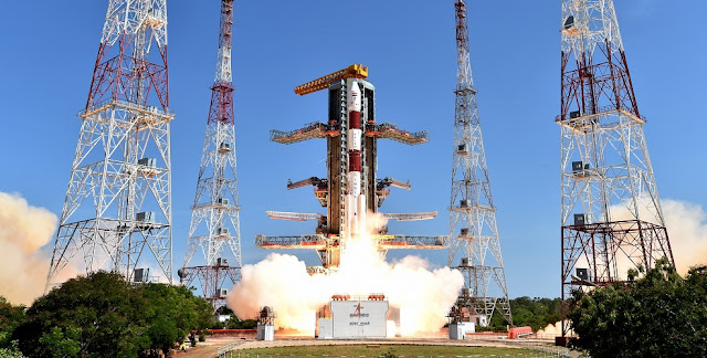 Liftoff of PSLV-C34. Photo Credit: ISRO