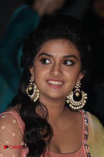 Actress Keerthy Suresh Pictures in Salwar Kameez at Remo First Look and le Track Launch  0036