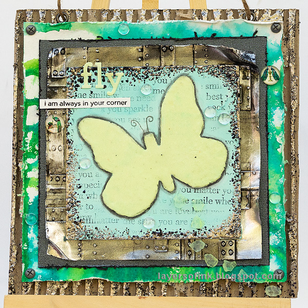 Layers of ink - Glow In The Dark Butterfly Tutorial by Anna-Karin Evaldsson.
