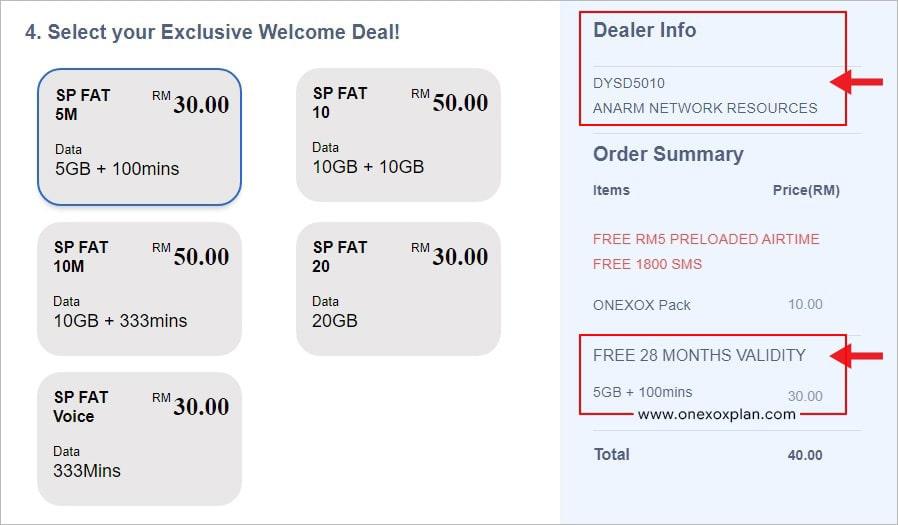 Pakej Welcome Deal dengan Tempoh Sah 28 Bulan