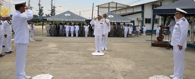 Ecuador: 39º Aniversario del Escuadrón de Submarinos y relevo de Comandante