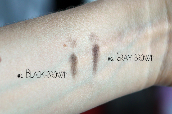 Etude house - Drawing Eye brow review swatches