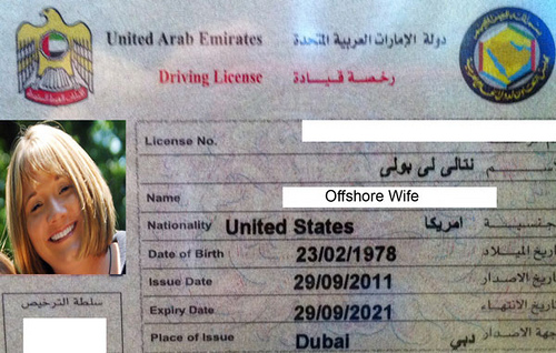 Driving license in UAE