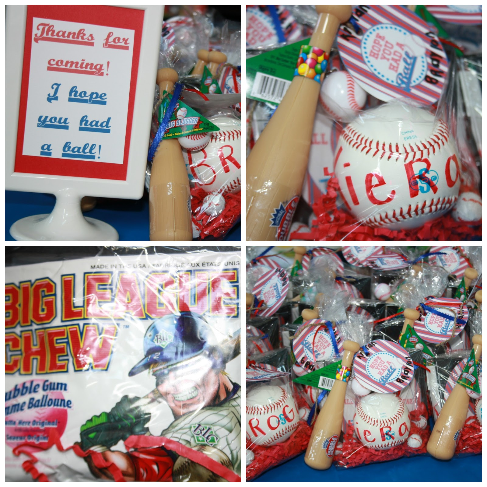 First Birthday Boy Party Loot Bag Single: Benedetti Buzz: Birthday Baseball Party
