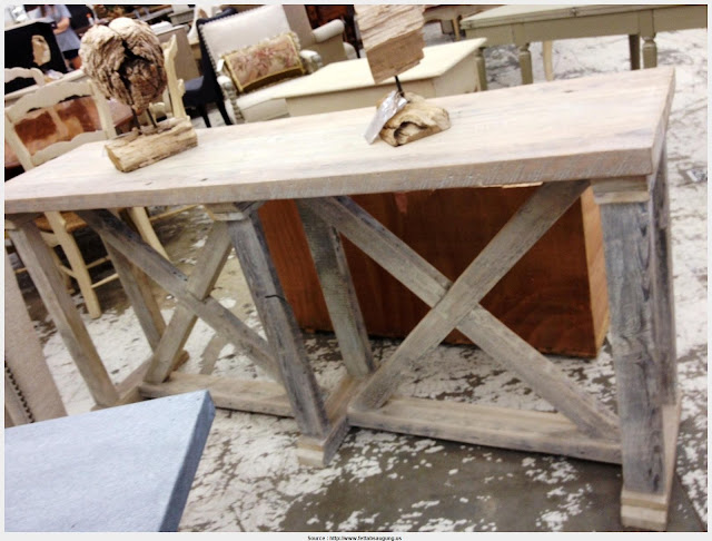 Popular Natural Wood Console Table Pic