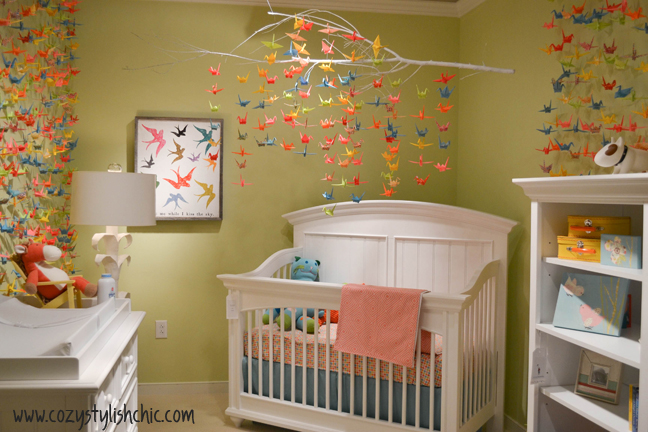 Paper Cranes Origami Baby Mobile - Craftfoxes | 432x648