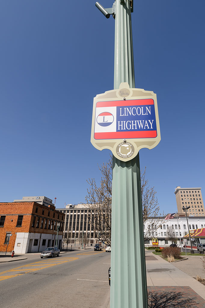 Lincoln Highway sign in Canton, OH