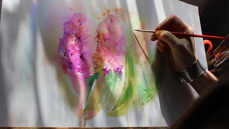 flowers for painting in watercolor