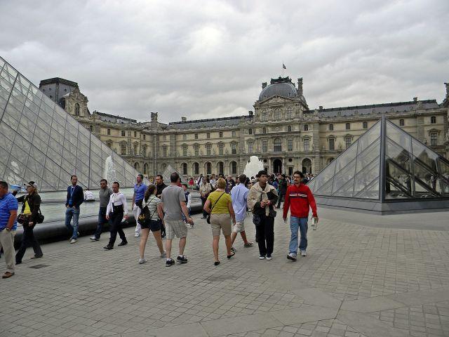 muzeum, Paryż, obrazy, sztuka
