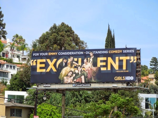 Girls Excellent 2014 Emmy Consideration billboard