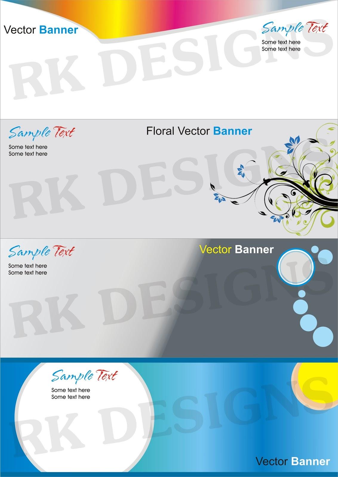 www.RanjithGFX.com: Vector Banner Templates