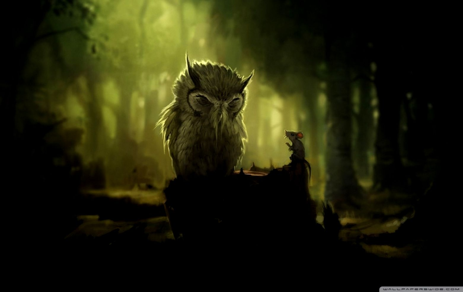 Wise Old Owl Wallpaper Wallpapers Sigi