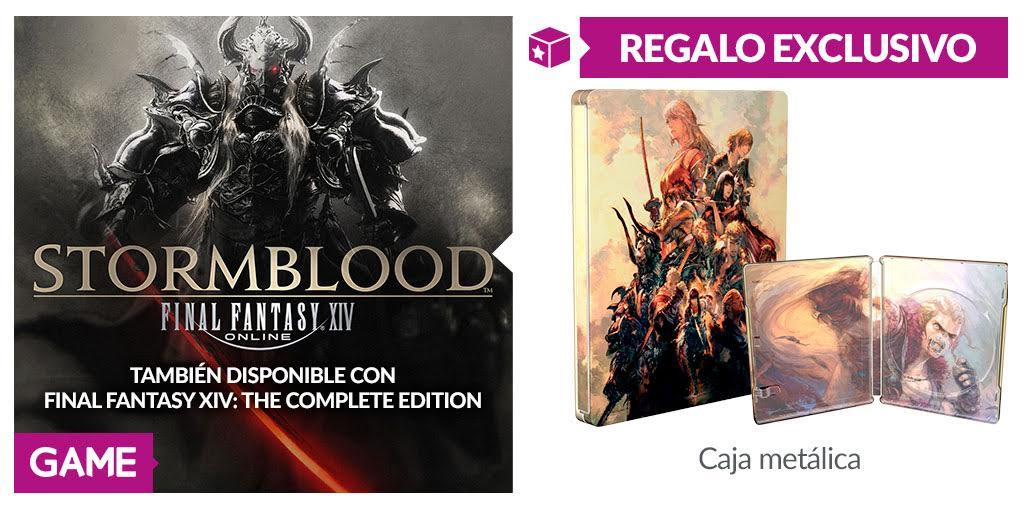 Disfruta antes que nadie de Final Fantasy XIV Stormblood en GAME y con caja metálica de regalo