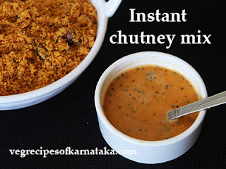 Instant chutney mix recipe in Kannada