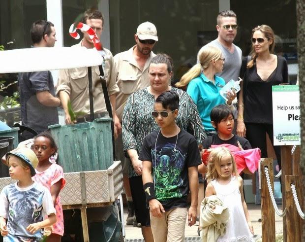 angelina jolie and brad pitt drove kids to the zoo news4y