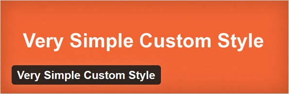 Extension for simple custom CSS styling