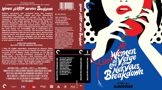 Women on the Verge of a Nervous Breakdown (1988) Bluray Cover