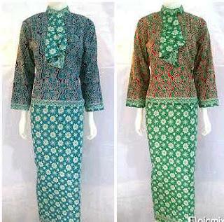 Model baju muslim batik wanita berjilbab