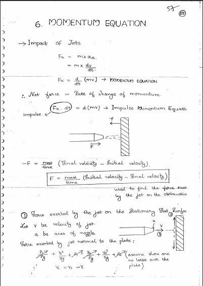GATE NOTES] Fluid Mechanics - GATE, IES, Govt Exams